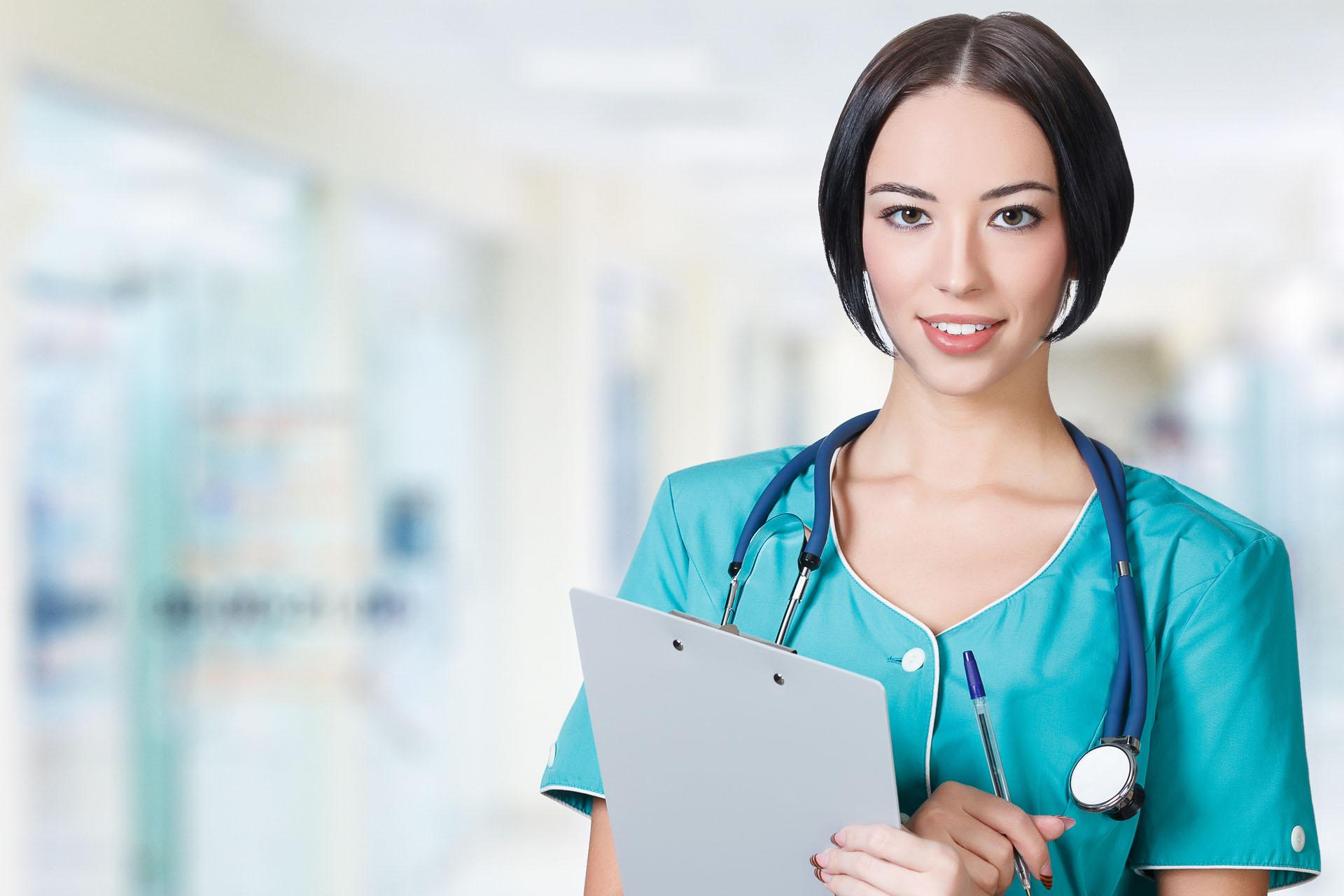 Nurse with a Chart